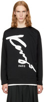 Kenzo Black Relaxed Signature Sweatshirt