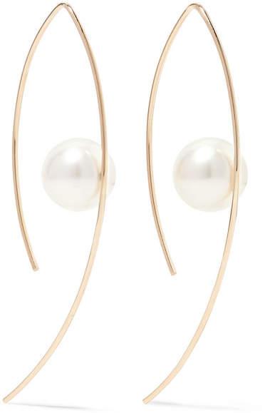 Mizuki - 14-karat Gold Pearl Earrings - one size