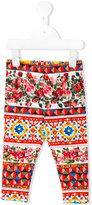 Dolce & Gabbana printed leggings - kids - Cotton/Spandex/Elastane - 9 mth