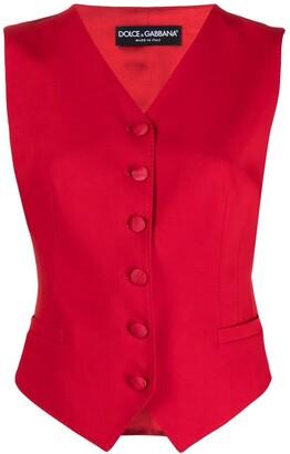 Dolce & Gabbana Fitted Silk Waistcoat