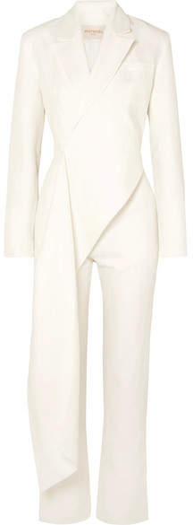 MATÉRIEL Draped Linen And Cotton-blend Jumpsuit - White