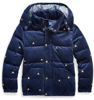 Ralph Lauren Corduroy Down Hooded Jacket