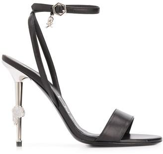 Philipp Plein Skull Stiletto Heel Sandals