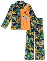 """Komar Kids Video Gamer """"Game On"""" 2 Piece Coat Style Pajama Set"""