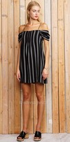 Greylin Spaghetti Strap Off the Shoulder Stripe Dress
