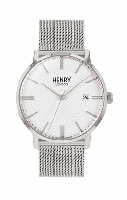 Henry London Regency Stainless Steel Case Creamy White Dial Stainless Steel Mesh Bracelet HL40-M-0373