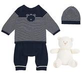 Emile et Rose Baby Knit Jumper Two Piece Set, Navy/White