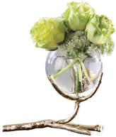 Global Views Twig Vase Holder, Brass