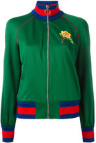 Gucci floral embroidered bomber jacket - women - Cotton/Polyester - L