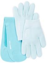 Pure Code Moisturizing Gel Gloves & Neck Wrap Gift Set - Aqua