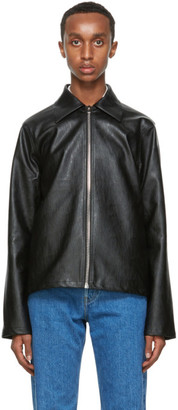 Séfr Black Faux-Leather Truth Jacket