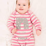Nell Percy and Personalised Girl's Stars Stripe Romper