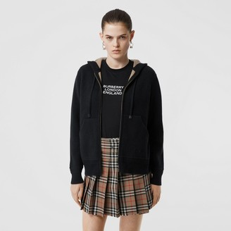 Burberry Embroidered ogo Cashmere Hooded Top