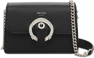 Jimmy Choo Madeline Leather Crossbody W/crystals