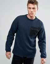 Jack and Jones Crew Neck Sweat with Pocket