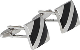 Oxford Cufflinks Onyx Stripe Silv/Onyx X
