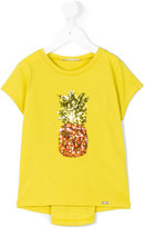 Liu Jo Kids - sequined pineapple T-shirt - kids - Cotton/Polyester - 3 yrs