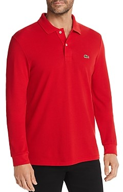 Lacoste Classic Fit Long-Sleeve Pique Polo Shirt