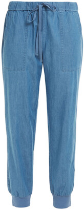 Joie Cropped Cotton-chambray Tapered Pants