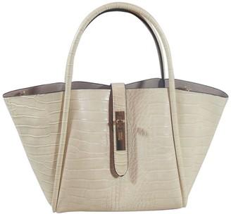 Croco UN Billion East/West Tote Bag w/ Removable Pouch - Lacy