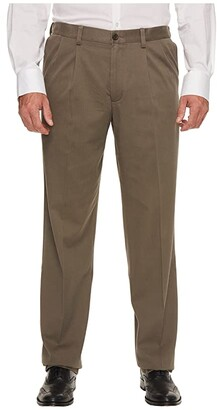 Dockers Big Tall Easy Khaki Pleated Pants (Black) Men's Clothing