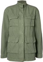 Nili Lotan Relaxed Fit Military Jacket - Green