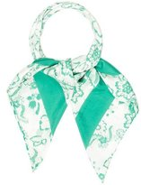 Burberry Floral Printed Scarf