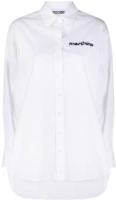 Moschino Embroidered Logo Oversize Shirt