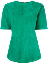 Balmain suede top - women - Lamb Skin - 38
