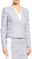 Classiques Entier One-Button Tweed Suit Jacket (Petite)