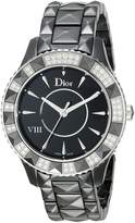 Christian Dior Women's CD1241E0C001 VIII Face Crystal and Diamond Dial Watch