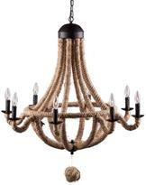 Apt2B Burlingame Chandelier BLACK/NATURAL