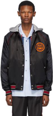 Gucci Black Hooded Bomber Jacket