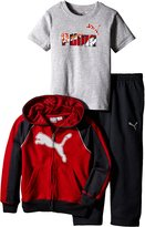 Puma Little Boys' Toddler 3 Piece Hoodie, Tee, Pant Set