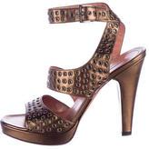 Alaia Embellished Metallic Sandals