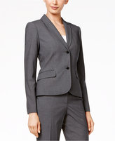 Calvin Klein Two-Button Pinstriped Blazer