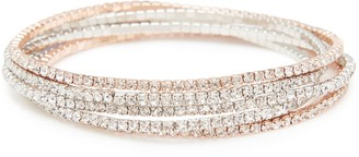 Forever New Uma Fine Stretch Bracelet Pack - Crystal - 00