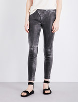 Drifter Valkyrie skinny leather trousers