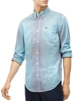 Lacoste Ombre-Effect Check Regular Fit Button-Down Shirt