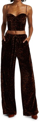 LaQuan Smith Crushed Velvet Lounge Pants