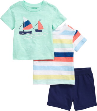 Little Me Sailboat 2-Pack T-Shirts & Shorts Set