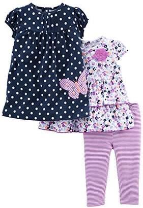 Carter's Simple Joys by Baby Girls' 3-Piece Playwear Set
