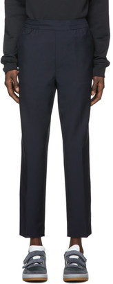 Acne Studios Navy Wool Cropped Trousers