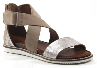Diba True Strappy Leather Sandal with Flex Sole- Flip Toes