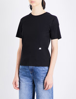 Mo&Co. Logo-embroidered cotton-jersey T-shirt