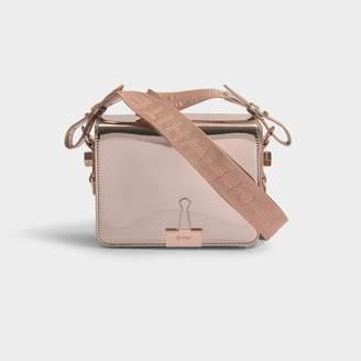 Off-White Off White Mirror Flap Bag In Metallic Calfskin