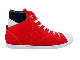 Louis Vuitton Red Cloth Trainers