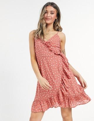 Figleaves sorrento spot beach dress in rust