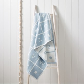 The White Company ABC Baby Blanket, Blue, One Size