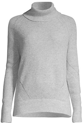 Minnie Rose Shaker Stitch Turtleneck Sweater